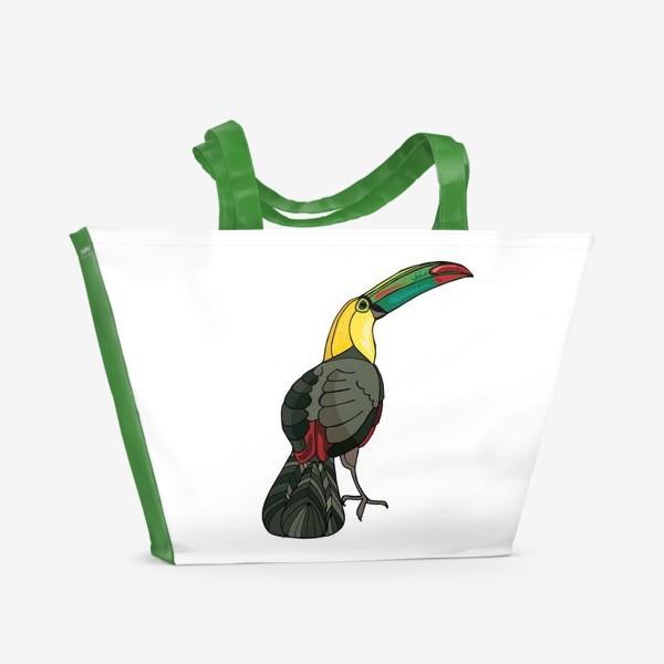 Пляжная сумка «Птица тукан»