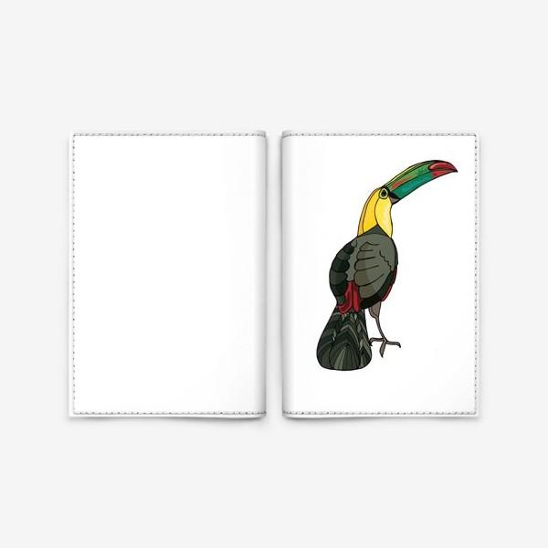 Обложка для паспорта «Птица тукан»