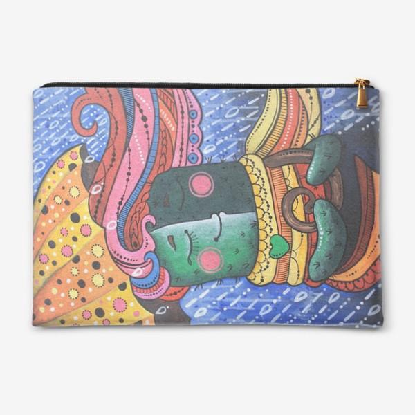 Косметичка «Кактус под Питерским дождем»