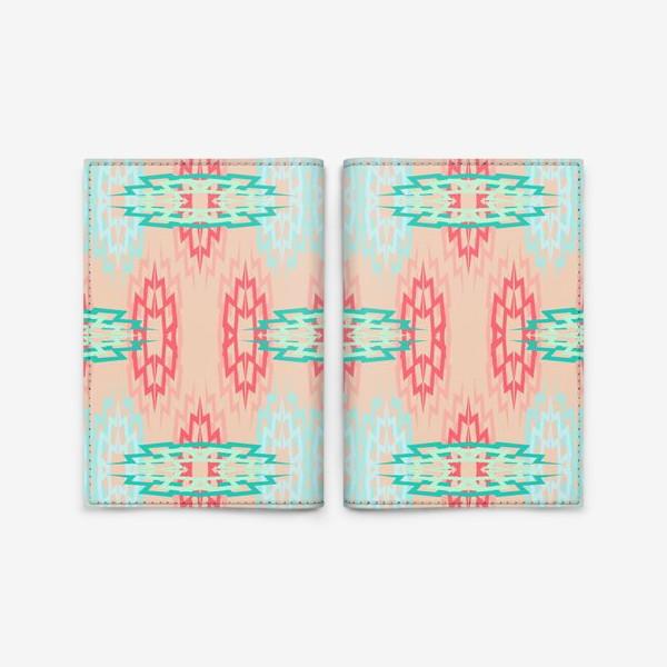 Обложка для паспорта «Нежный геометрический паттерн»