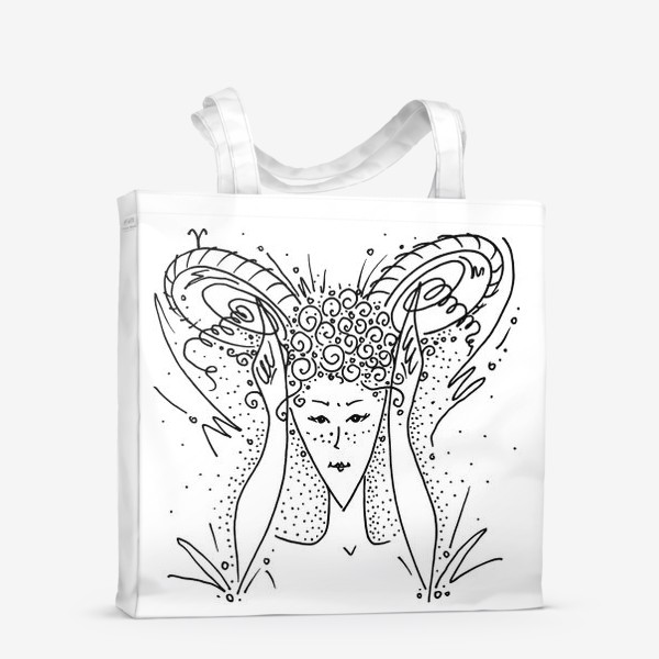 Сумка-шоппер «Овен зодиак»