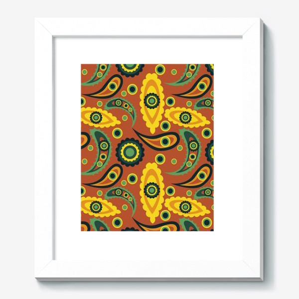 Картина «abstract seamless floral pattern exotic shapes»