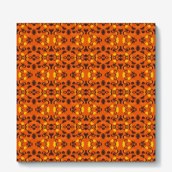 Холст «abstract seamless floral pattern exotic shapes»
