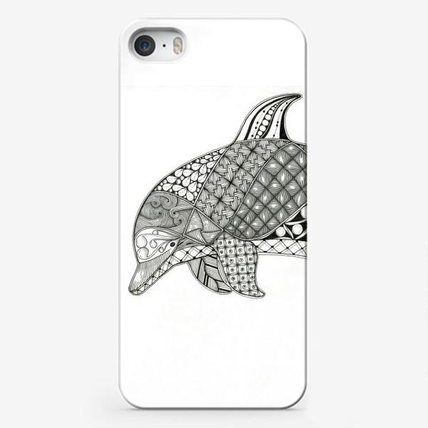 Чехол iPhone «Медитативный дельфин»