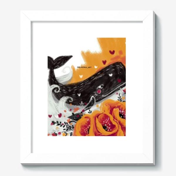 Картина «кит в цветах»