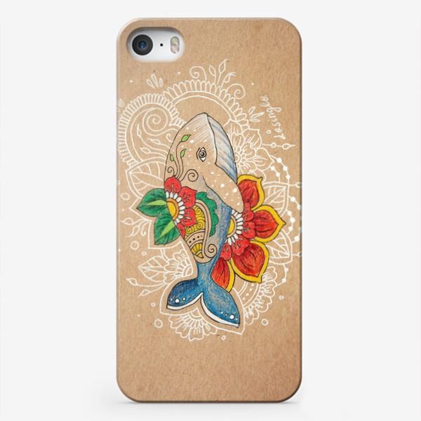 Чехол iPhone «Цветочный кит»