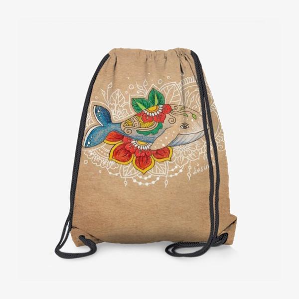 Рюкзак «Цветочный кит»
