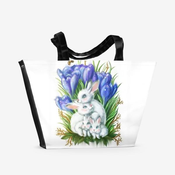 Пляжная сумка «Лесная семейка»