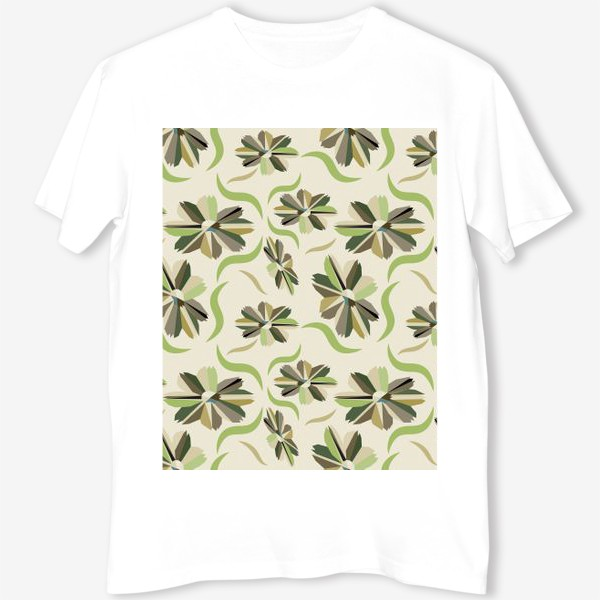 Футболка «abstract seamless floral pattern exotic shapes»