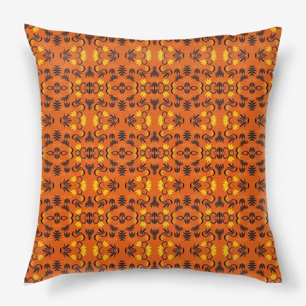 Подушка «abstract seamless floral pattern exotic shapes»