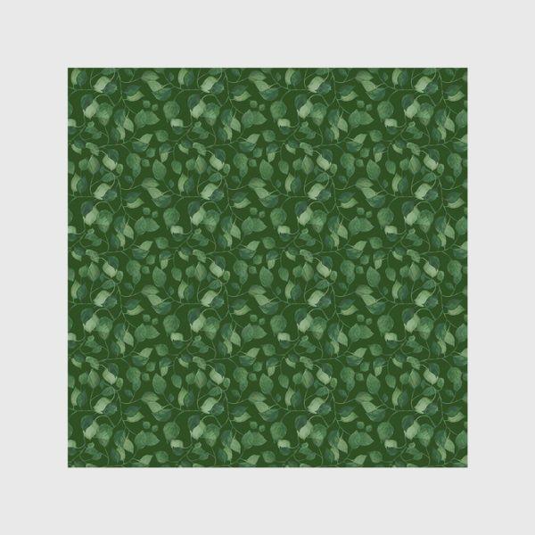 Скатерть «Природа растения листочки зелень эко паттерн»