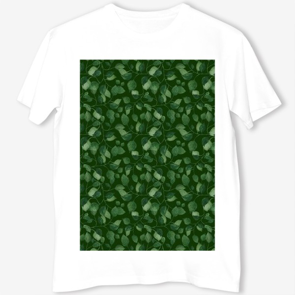 Футболка «Природа растения листочки зелень эко паттерн»