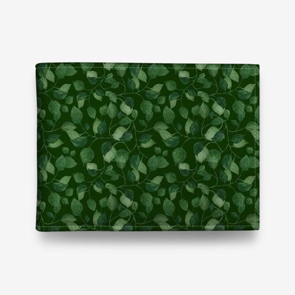 Кошелек «Природа растения листочки зелень эко паттерн»