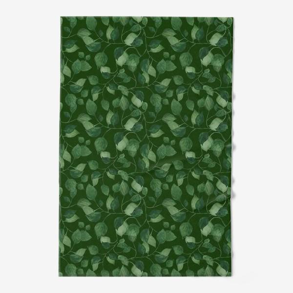 Полотенце «Природа растения листочки зелень эко паттерн»