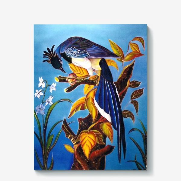 Холст «синяя птица »