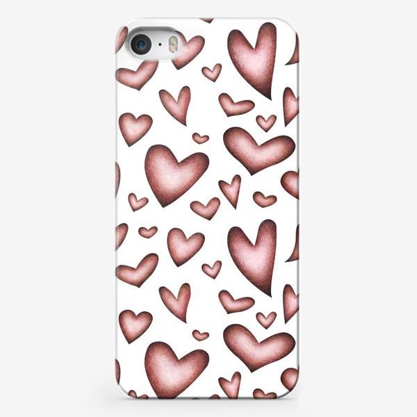 Чехол iPhone «Винтажные сердечки»