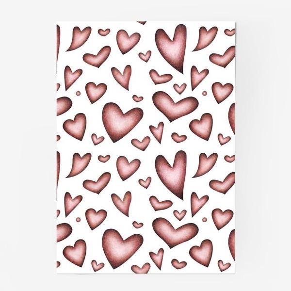 Постер «Винтажные сердечки»