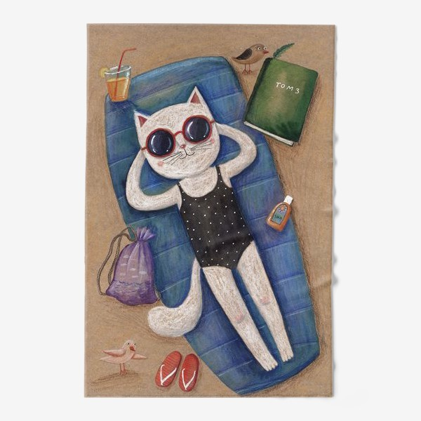Полотенце «Умная кошка. Том 3»