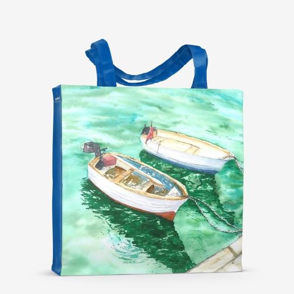 Сумка-шоппер «Рыбацкие лодки на море»