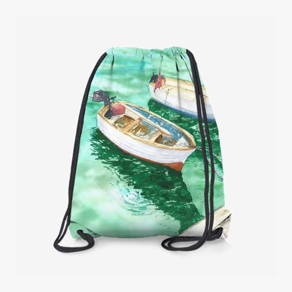 Рюкзак «Рыбацкие лодки на море»
