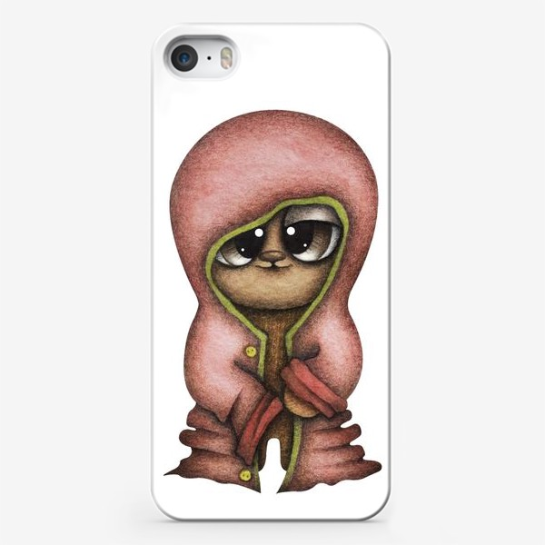 Чехол iPhone «Смешной персонаж в красной куртке»