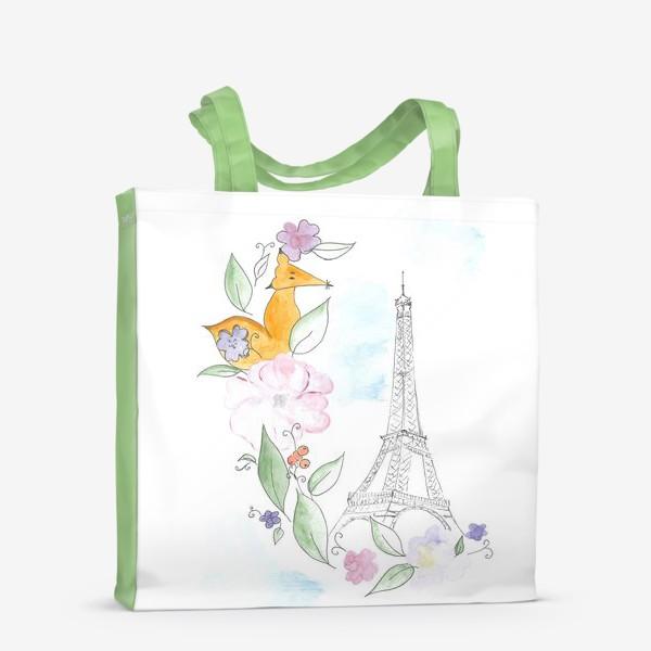 Сумка-шоппер «Лис и Эйфелева башня»