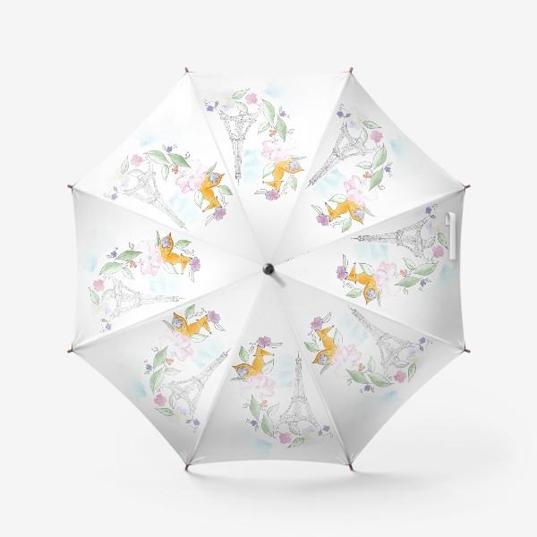 Зонт «Лис и Эйфелева башня»