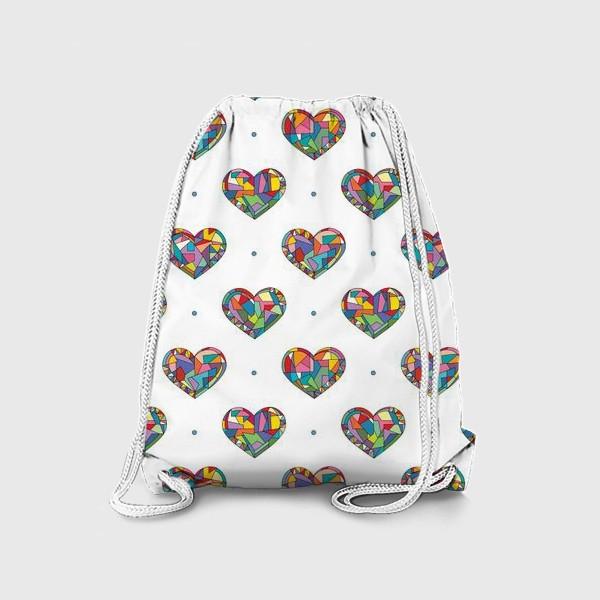 Рюкзак «Геометрические сердечки»