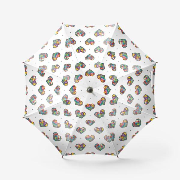 Зонт «Геометрические сердечки»