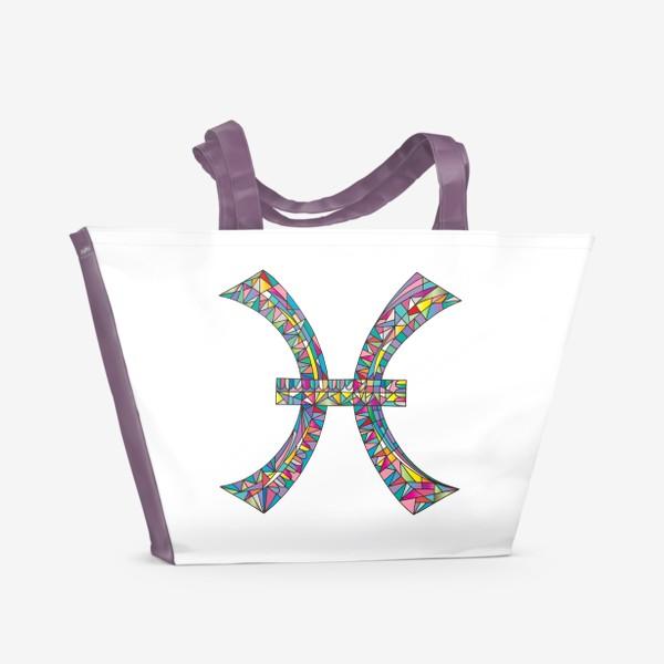 Пляжная сумка «Знак зодиака РЫБЫ»