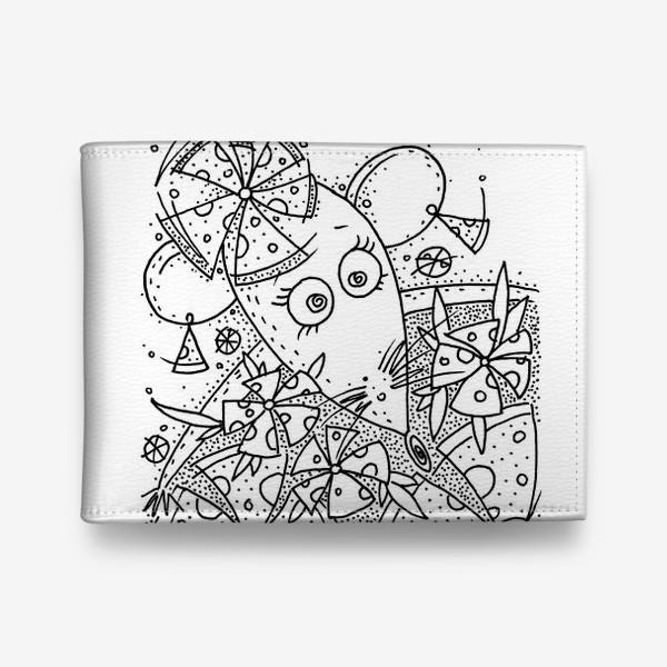 Кошелек «Мышь, сыр, цветы»