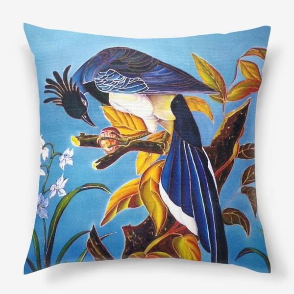 Подушка «синяя птица »