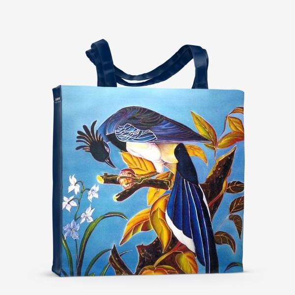 Сумка-шоппер «синяя птица »