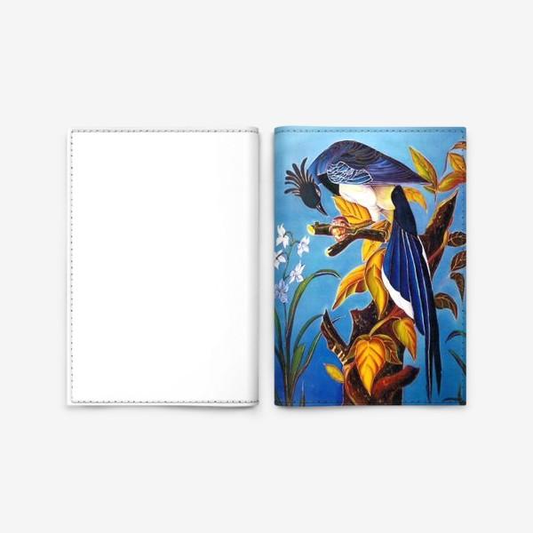 Обложка для паспорта «синяя птица »