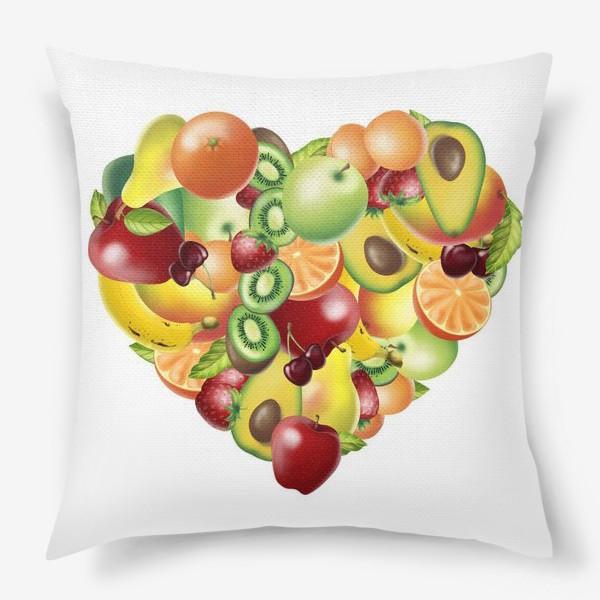 Подушка «фруктовое сердце»