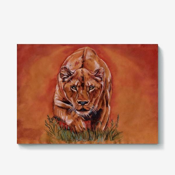 Холст «львиная охота »