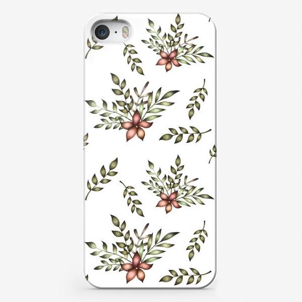 Чехол iPhone «Паттерн с цветочной композицией»