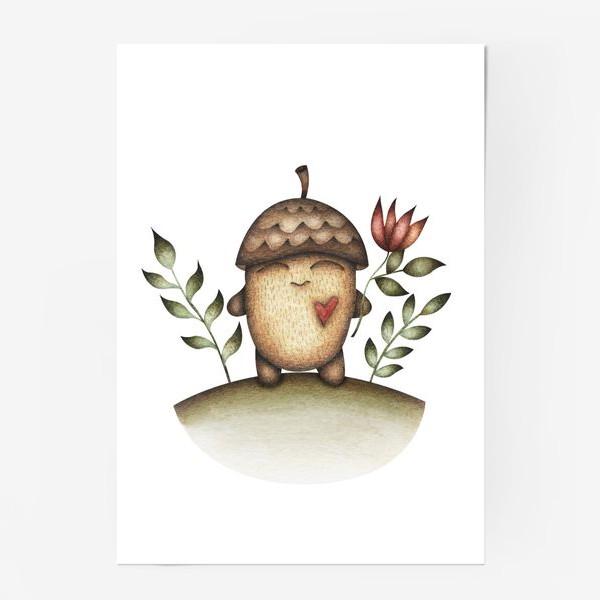 Постер «Милый персонаж в отличном настроении»