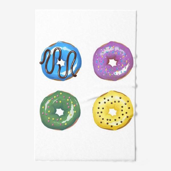 Полотенце «цветные пончики»