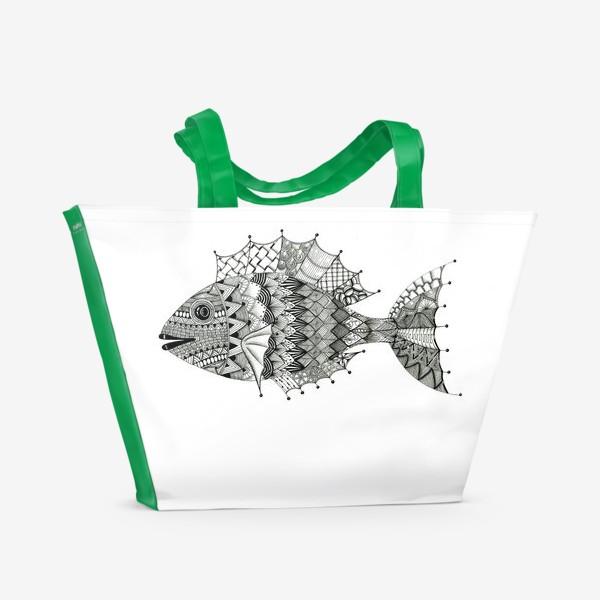 Пляжная сумка «Хитрая рыба»