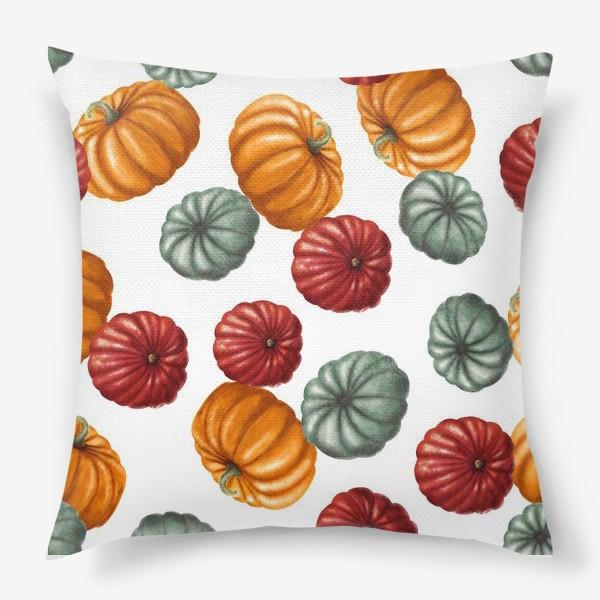 Подушка «цветные тыквы»