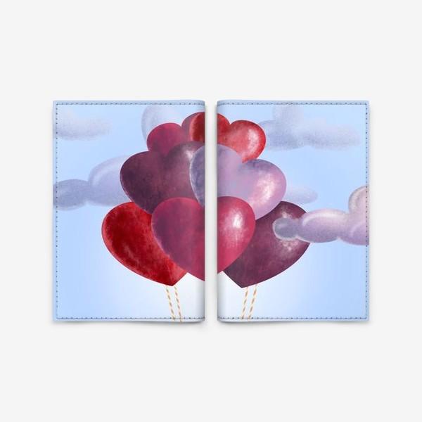 Обложка для паспорта «Романтика в облаках»