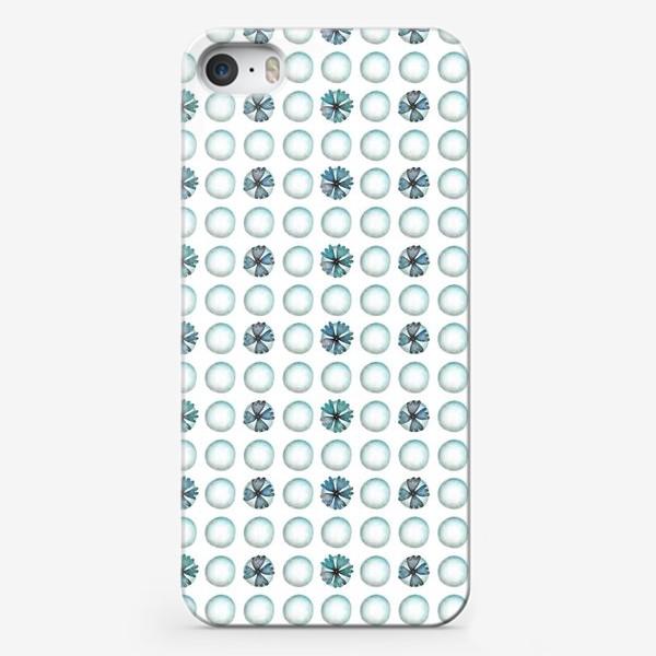 Чехол iPhone «Геометрический паттерн в голубых оттенках»