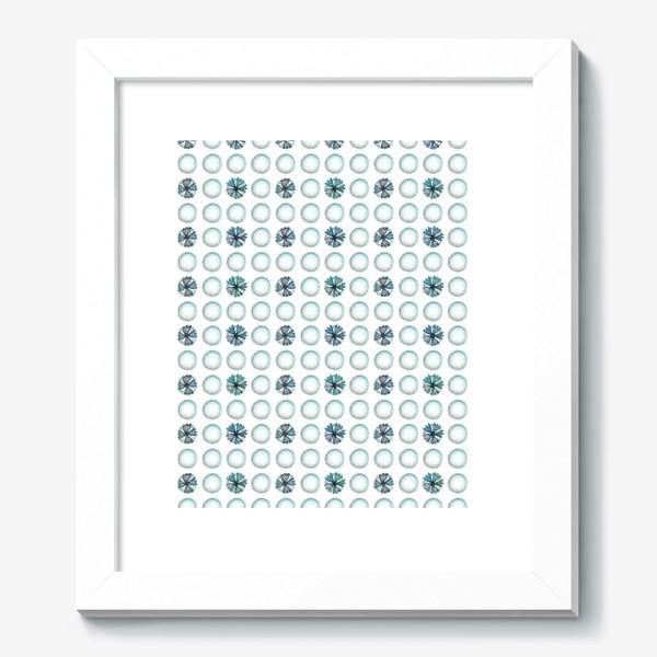 Картина «Геометрический паттерн в голубых оттенках»