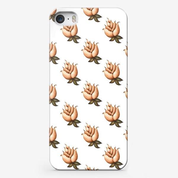 Чехол iPhone «Ретро паттерн с цветами»