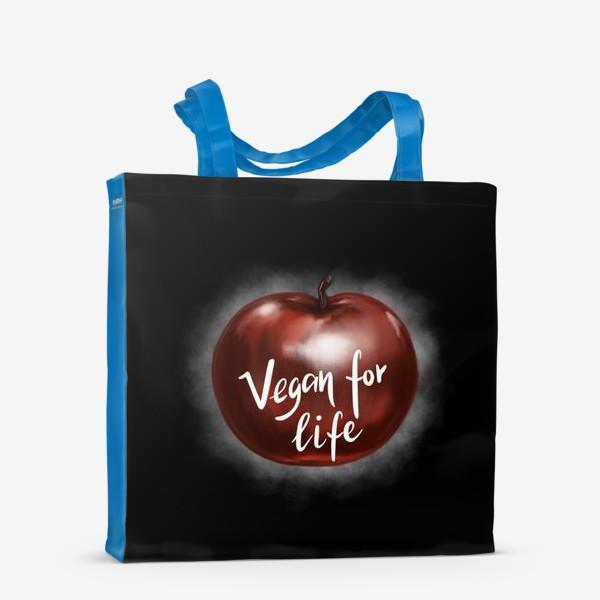Сумка-шоппер «Vegan for life. Подарок вегана. День вегана. »