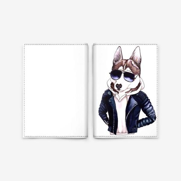 Обложка для паспорта «Мистер Хаски»