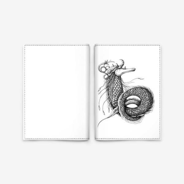 Обложка для паспорта «Морской конек»