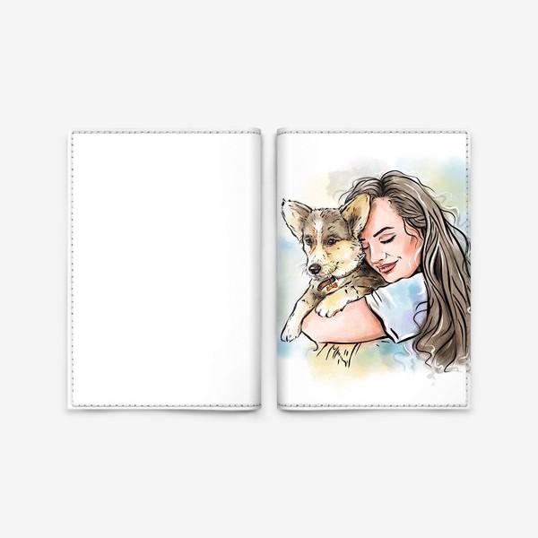 Обложка для паспорта «I love my dog»