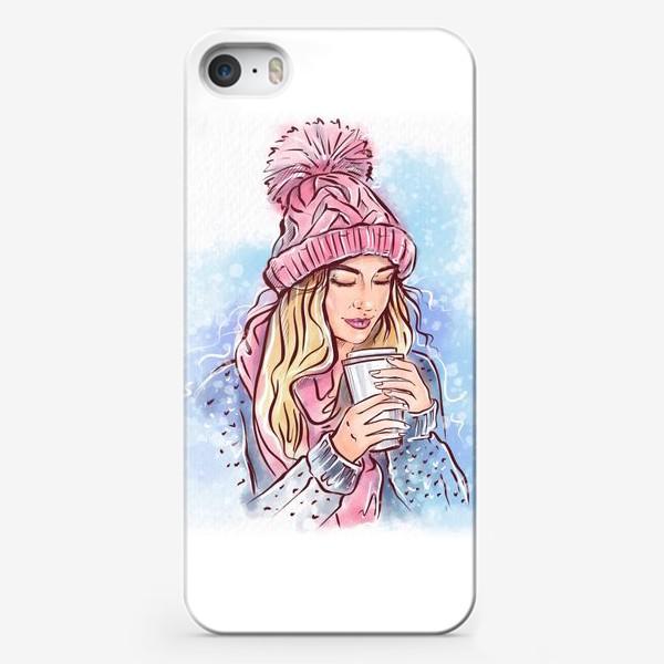 Чехол iPhone «Девушка с кофе»